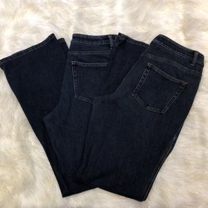 Lot of 2 Coldwater Creek Natural Fit Blue Jeans 8